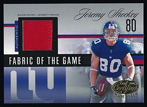1124c2a3e JEREMY SHOCKEY 2006 LEAF CERTIFIED MATERIALS JERSEY 11 25  NEW YORK GIANTS