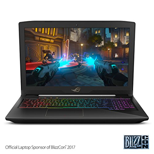 "ASUS ROG STRIX Thin and Light Gaming Laptop, 15"" Full HD, Intel Core i7-7700HQ Processor, 16GB DDR4 RAM, 256GB SSD + 1TB HDD, GTX 1050 4GB, RGB Keyboard, GL503VD"