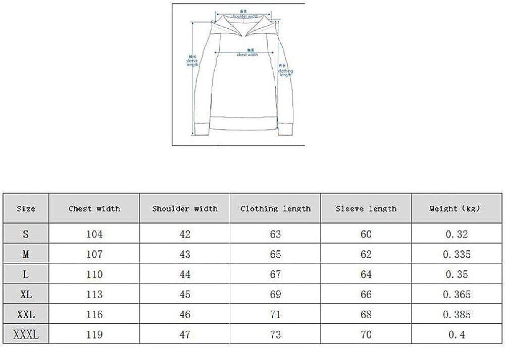ZYSQWY Weihnachten Pullover Sweatshirts Hoodie Print Europa und Amerika 3D gedruckte lose Pullover A