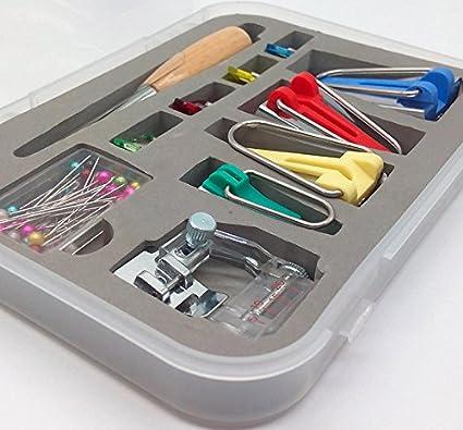 6MM 12MM 18MM 25MM Tool Tape Maker Tool Set para Patchwork de Costura de Tela Acolchado Desconocido HEEPDD Bias Tape Maker