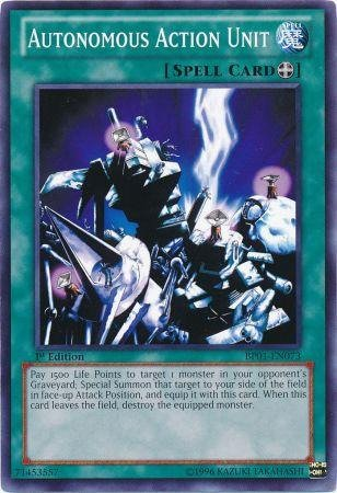 Autonomous Action Unit - Yu-Gi-Oh! - Autonomous Action Unit (BP01-EN073) - Battle Pack: Epic Dawn - Unlimited Edition - Common