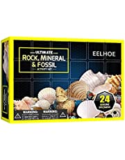24pcs Gemstons& Crystals Advent Calendar 2021 for Kids Novelty Christmas Countdown Calendar Toy, Rock, Fossil & Mineral Collection Activity Kit