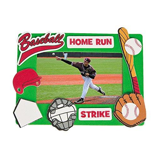 Fun Express Baseball Picture Frame Craft Kits (Makes 12)