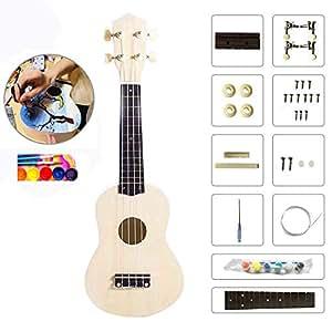 diy ukulele kit make your own concert ukulele 21in soprano hawaii ukulele kit with. Black Bedroom Furniture Sets. Home Design Ideas