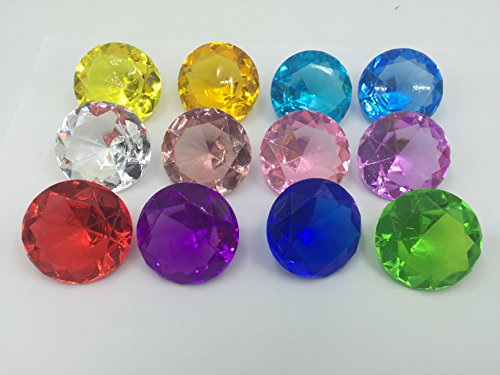 Acrylic Diamond Shape - SunRise 240 + Pieces Multi-Colored Diamond Shape Acrylic Collectible Accessories for Event Party Decoration,Wedding, Arts & Crafts