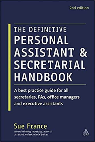Amazon the definitive personal assistant secretarial handbook amazon the definitive personal assistant secretarial handbook a best practice guide for all secretaries pas office managers and executive fandeluxe Choice Image