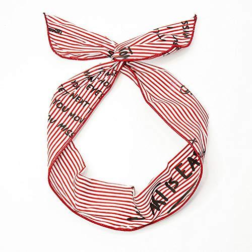 New Women Girl Pattern Bunny Rabbit Ear Ribbon Headwear Hairband Metal Wire Scarf Headband Women Hair Ornaments Headband,2
