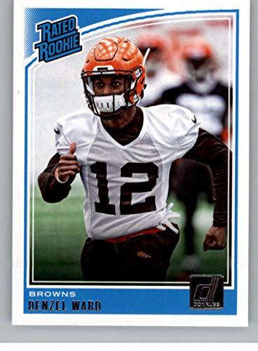 new product bf082 e9c83 Amazon.com: Football NFL 2018 Donruss #348 Denzel Ward Rated ...