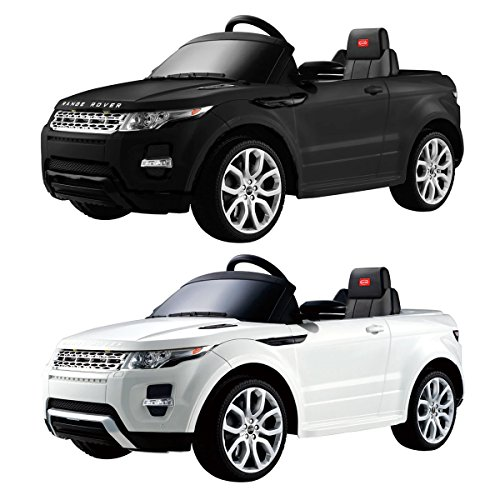 Range Rover Evoque 12V Licensed Childrens Kids Ride On Electric Remote Toy Car Black and White Available