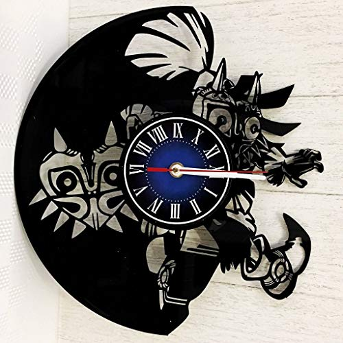 The Legend of Zelda Wall Clock Made from 12 inches / 30 cm Vintage Vinyl Record | The Legend of Zelda Gift for Men Boys Husband | Zelda Game Gift | The Legend of Zelda Merchandise