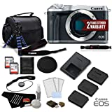 Canon EOS M6 Mirrorless Digital Camera (Body Only, Silver) 1725C001 Deluxe Bundle- International Version (No Warranty)