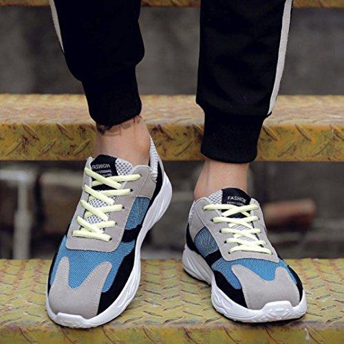 Uomo Casual Basse Scarpe Corsa Moda Traspiranti Sportive da da da Traspiranti Blu con Patchwork Alla Ginnastica Scarpe Moda Uomo da SOMESUN qPEOXO