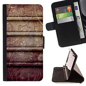 Momo Phone Case / Flip Funda de Cuero Case Cover - Pétalo Flores Patrón rústico - Samsung Galaxy E5 E500