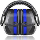 Fnova 34dB Highest NRR Safety Ear Muffs - Professional Ear Defenders for Shooting, Adjustable Headband Ear Protection / Shooting Hearing Protector Earmuffs Fits Adults to Kids (BLUE)