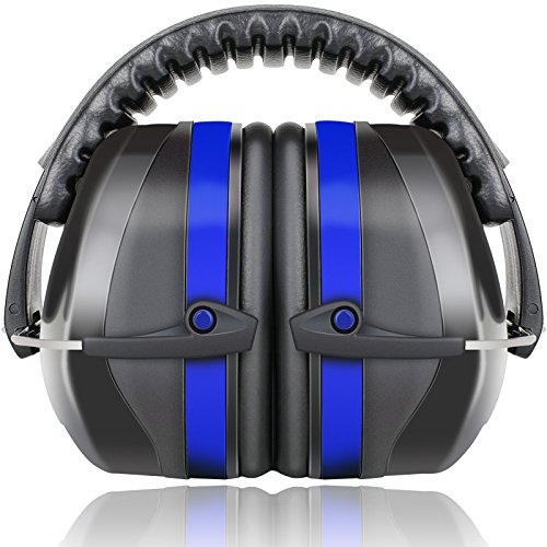 Fnova 34dB Highest NRR Safety Ear Muffs - Professional Ear Defenders for Shooting, Adjustable Headband Ear Protection / Shooting Hearing Protector Earmuffs Fits Adults to Kids (Blue) (Range Shooting Ear Protection compare prices)