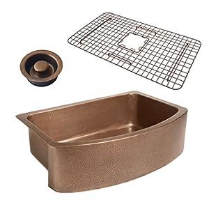51BgkKvlA9L._SS300_ Copper Farmhouse Sinks & Copper Apron Sinks