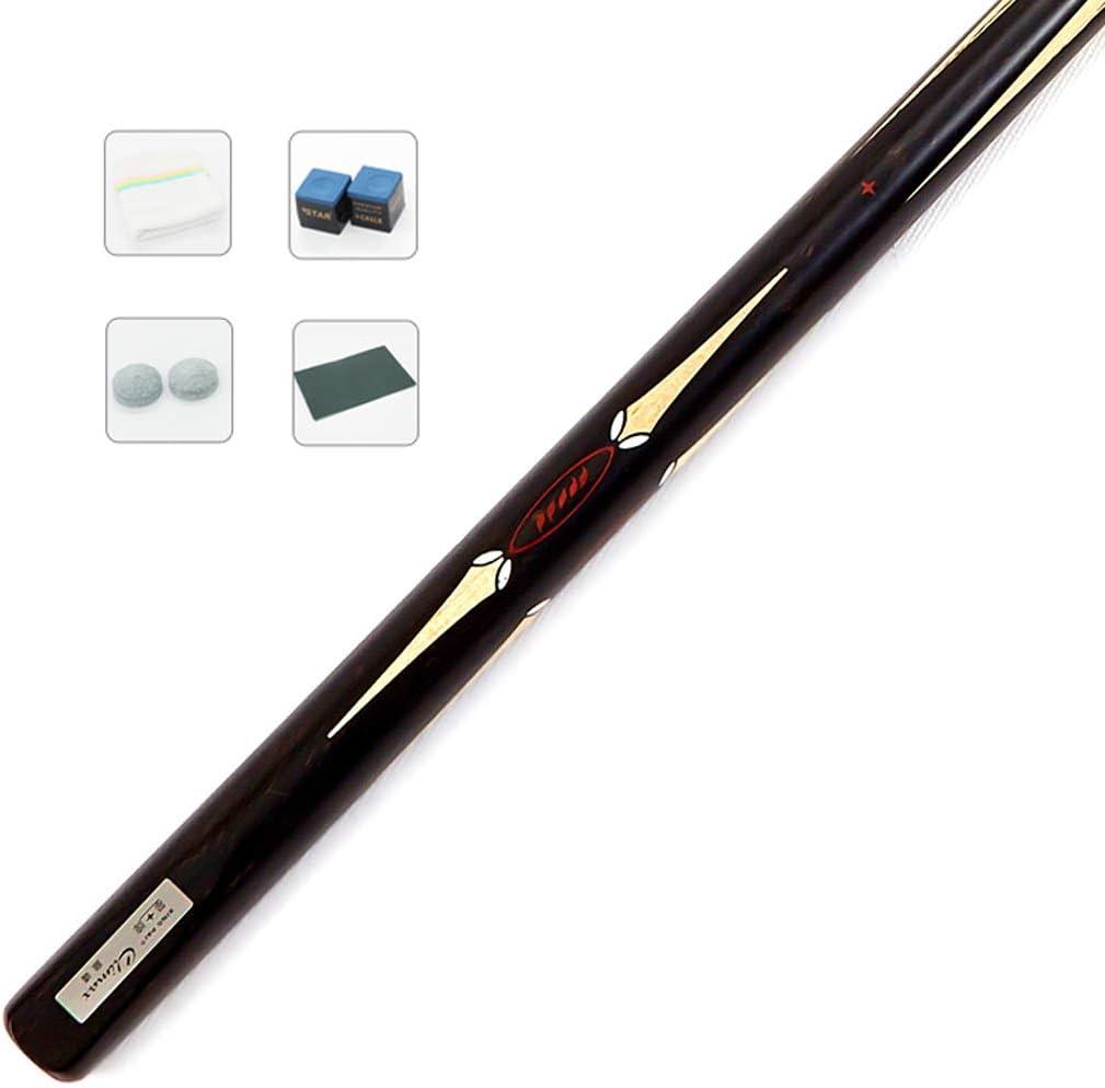 WXSプールキュー、アッシュ/エボニー黒檀10mmスモールヘッドパスセットスヌーカーキュー複数のサンディングブラックエイトシングルビリヤードバー付きエクステンション/ロッドケース