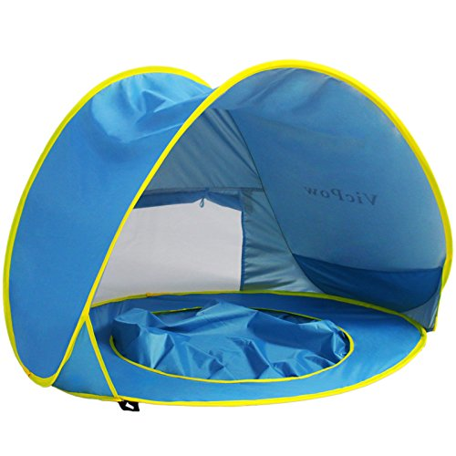 Pop Up Baby Beach TentVicPow Portable Infant Sun Shelter Play Beach Tent with Kiddie PoolUV Protection  sc 1 st  Summer Products Store & Up Baby Beach TentVicPow Portable Infant Sun Shelter Play Beach ...