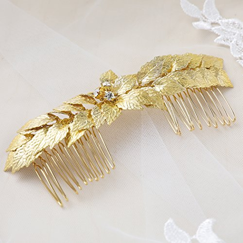 CAM Jewelry 7 Stone Statement Hair Comb in Metallic gold pMY9xQxbf