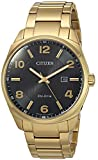 Citizen Men's 'Eco-Drive' Quartz Stainless Steel Casual Watch, Color:Gold-Toned (Model: BM7322-57E)