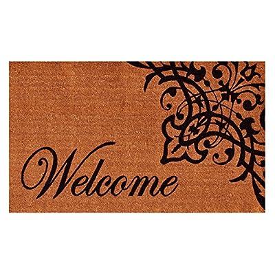 Home & More Scroll Welcome Outdoor Doormat