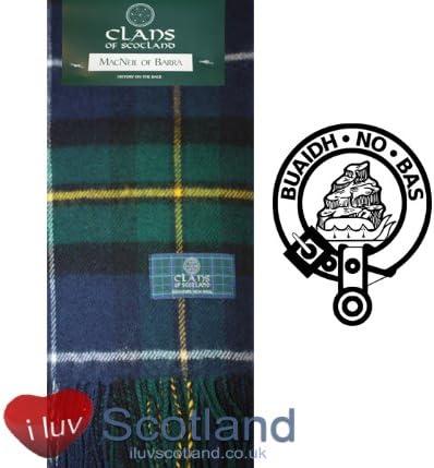 MacNeil of Barra Modern Tartan Clan Scarf 100/% Soft Lambswool