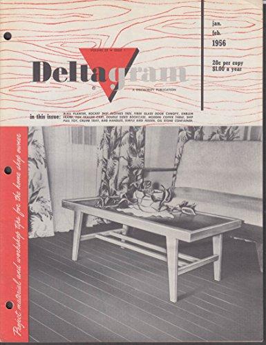 Delta Power Tools DELTAGRAM 1 1956 Rocket Ship Clothes Tree; Toy Cart ++