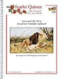 Scarlet Quince KUH001lg Lion and His Prey by Friedrich Wilhelm Kuhnert Counted Cross Stitch Chart, Large Size Symbols