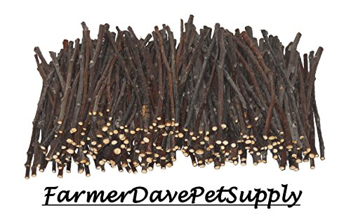 FarmerDavePetSupply 250 Apple Skinny Twig Chews for Rabbits, Guinea Pigs, Chinchillas and Other Small Animals