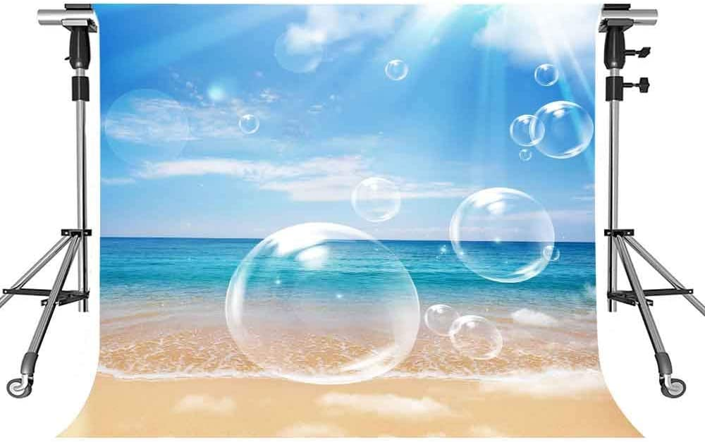 Seaside Scenery Backdrop Beach Blue Sky Blue Sky 10X10ft MEETSIOY Photography Background Themed Party Photo Booth YouTube Backdrop LXMT1203