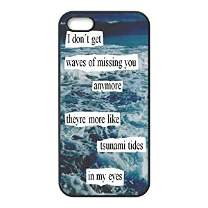 iPhone 5S Protective Case - Quotes of Ed Sheeran Hardshell Carrying Case Cover for iPhone 5 / 5S