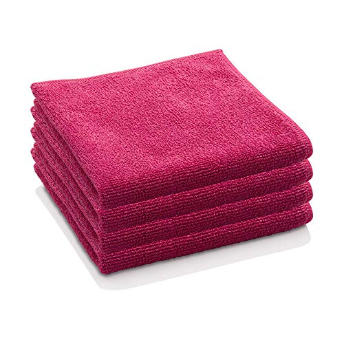 E-Cloth General Purpose Microfiber Cleaning Cloth, Raspberry Rose, 4 Count (Renewed)