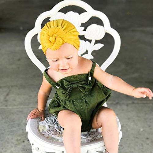 BAOBAO Cotton Women Mom Kids Baby Girl India Cap Knot Turban Beanie Hat Headwrap