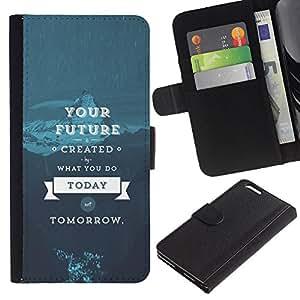 Stuss Case / Funda Carcasa PU de Cuero - SU FUTURO - SABIDURÍA DE VIDA - Apple Iphone 6 PLUS 5.5