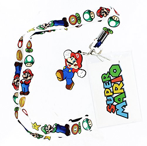 Super Mario Bros. Lanyard with Mario - Lanyard Nintendo Super