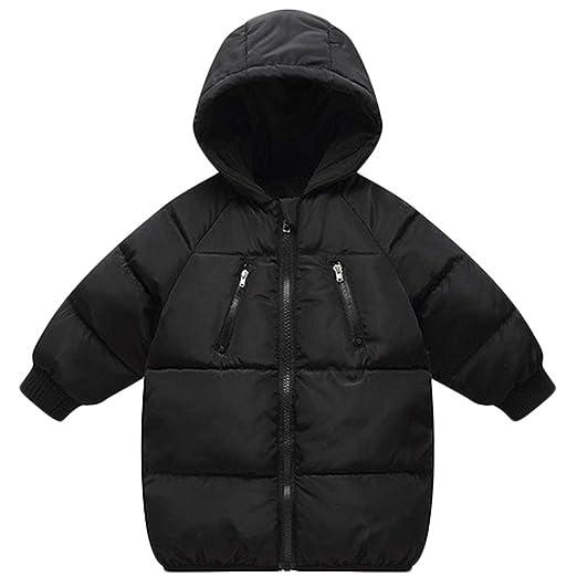 14bf07a18 LANBAOSI Baby Boys Girls Winter Coat, Toddler Kids Warm Hooded Jacket  Outerwear Black