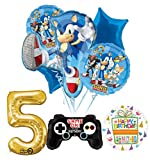 Mayflower Products The Ultimate Sonic The Hedgehog 5th Birthday Party Supplies and Balloon Decorations