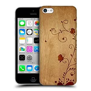 DIY Case Designs Swirl Wood Art Protective Snap-on Hard Back Case Cover for Apple iPhone 5c by ruishername