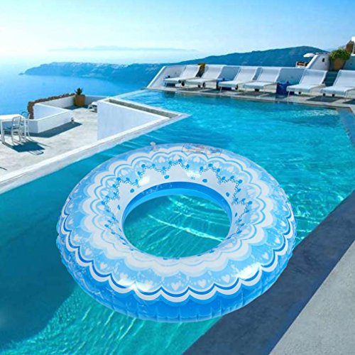 Leegor Adult Premium PVC Float Swimming Ring Circle Tube Inflatable Beach Raft Boat Sea Toys Swim Pool Party - Pull To How Buoy Use
