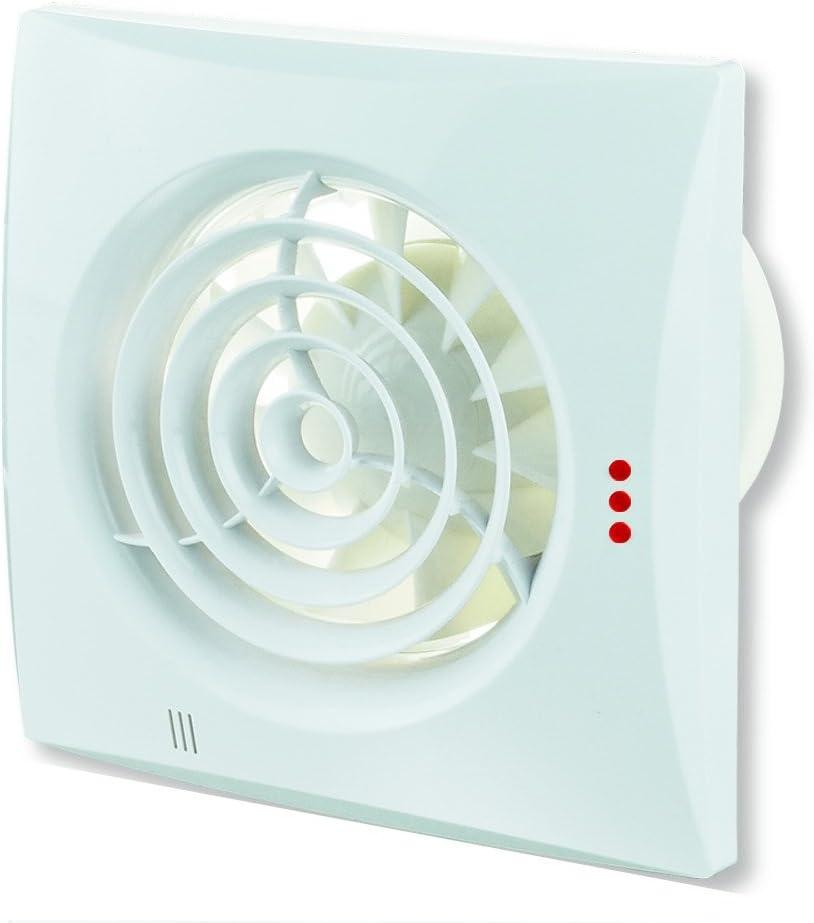 Viento aire Extractor silencioso silenciador 125mm con sensor de humedad de la humedad