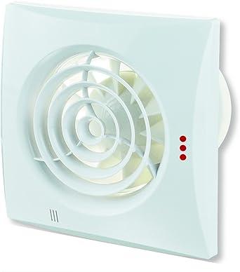 Ventilateur Extracteur D Air Quiet V2 Non Seulement Silencieux Mais Aussi Discret Avec Roulement A Billes Fabrique En Europe Blanc Amazon Fr Luminaires Et Eclairage