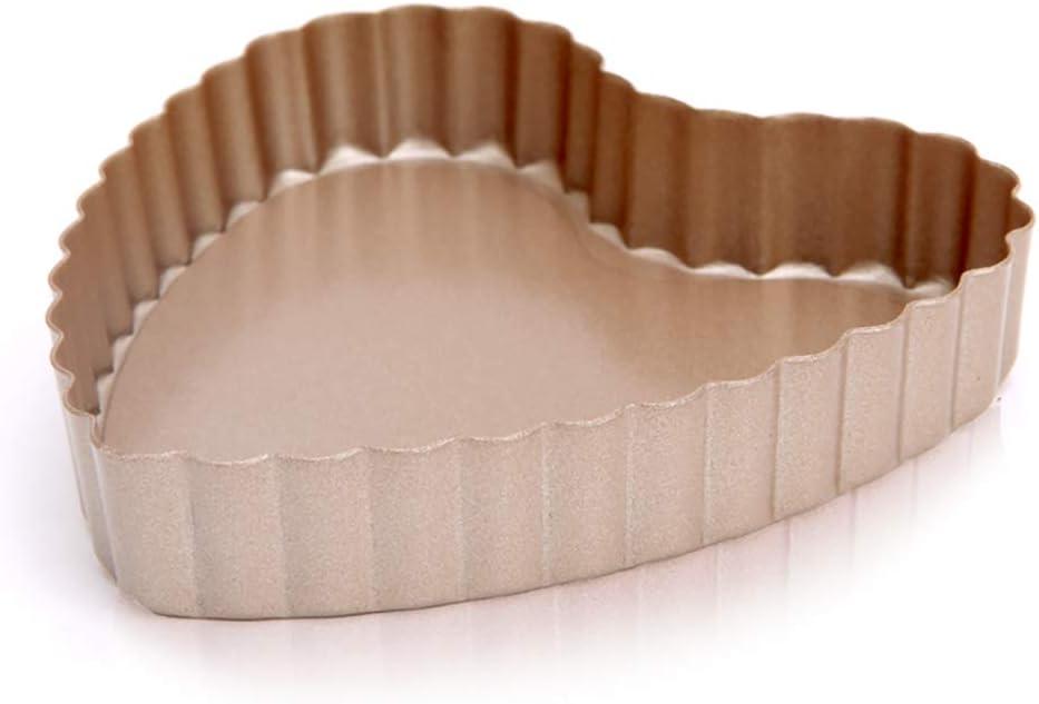 N//A LIXINGER Moule de Cuisson Mini Fond en Forme de c/œur Tarte ondul/ée Tarte Moule 1 Pack