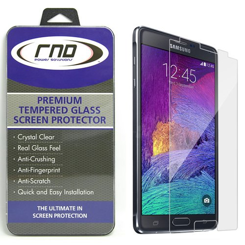 RND Accessories All-In-One Screen Protectors for Samsung Galaxy Note 4 -  Retail Packaging - Tempered Glass