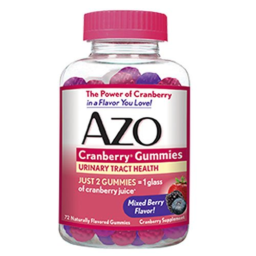 AZO Urinary Tract Health Cranberry Gummies, Mixed Berry 72 ea (Pack of 4)