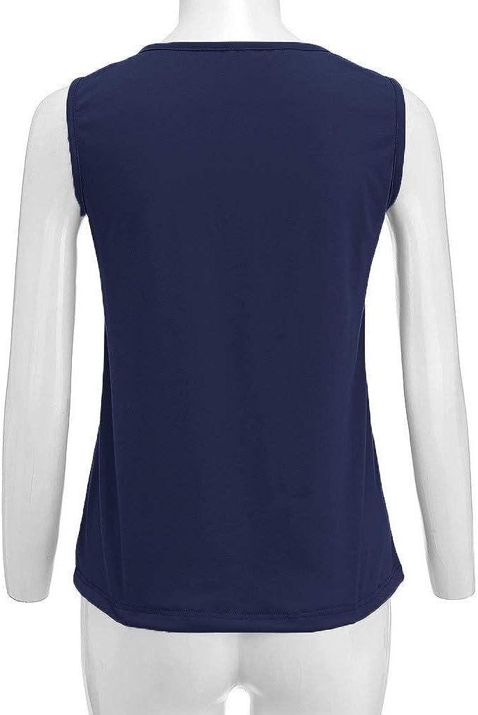 YUHUISTART Weste Damen Sommer Plus Size Valueweight Floral Bedruckte /Ärmellose Tanktops Camis Kleidung Pulli Hemd Oberteile Bluse Tunika