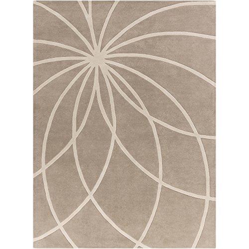 Surya Forum FM-7185 Contemporary Hand Tufted 100% Wool Safari Tan 8' x 11' Abstract Area Rug
