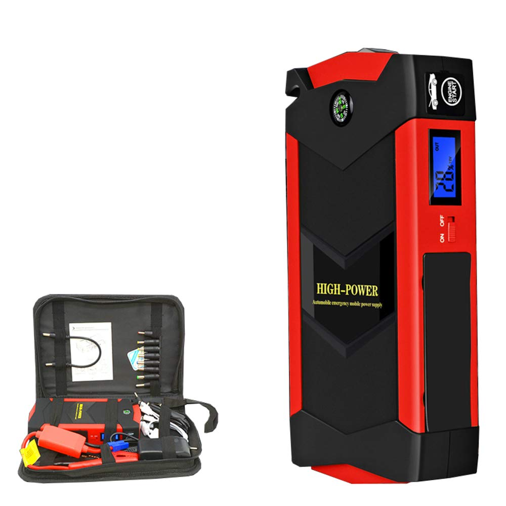 1000A Peak 20000mAh Portable Car Jump Starter (up to All Gas Vehicle or 8.0L Diesel Engine) 1 Pack (JX19 20000mAh Carring Box Packing, Black Green) by Yourshops