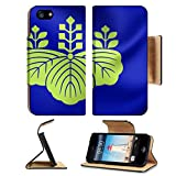 imperial armband iphone 5 - Luxlady Premium Apple iPhone 5 iphone 5S Flip Pu Leather Wallet Case iPhone5 IMAGE ID: 43118234 3D Government Seal of Japan Close Up