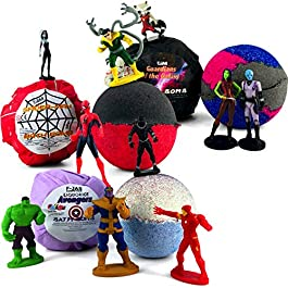 Bath Bomb with Hidden Toy TRIPLE PACK (Spider-man, Avengers, Guardians)