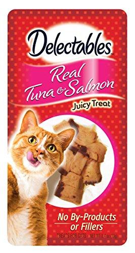 Hartz Delectables Real Tuna & Salmon Juicy Treats, 0.4 oz, Pack of 12